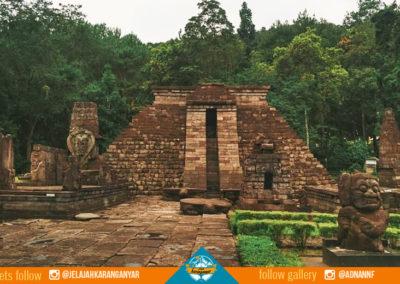 Bangunan utama candi sukuh di kabupaten karanganyar